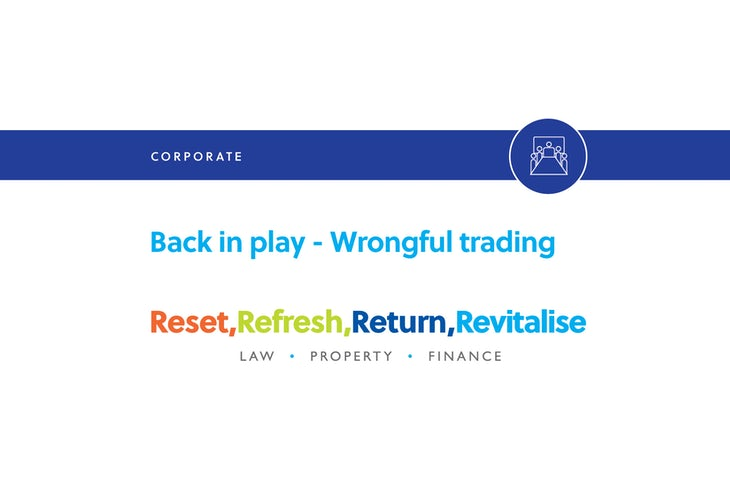 Blog – Back in play – wrongful trading