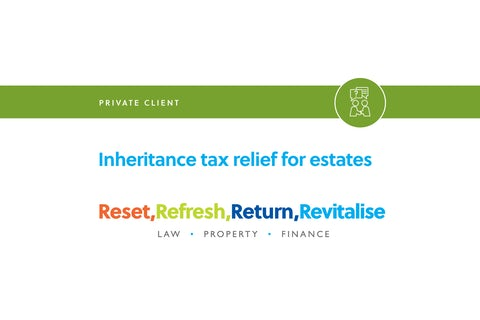 Blog – Inheritance tax releif