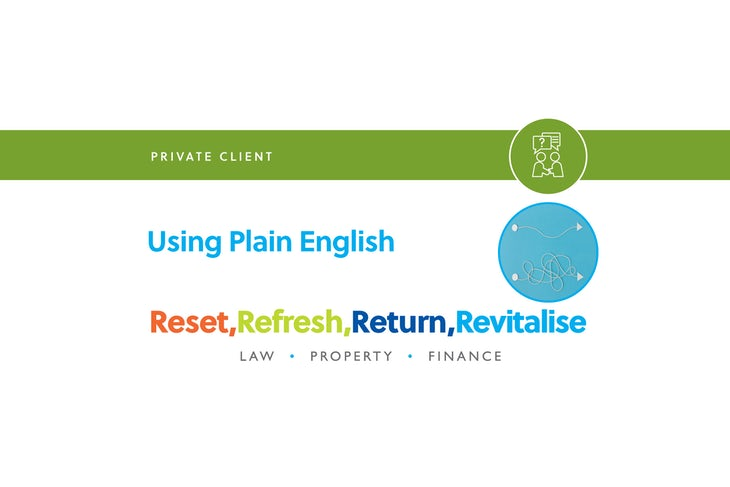 Blog – Using plain english