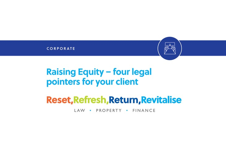 Raising equity