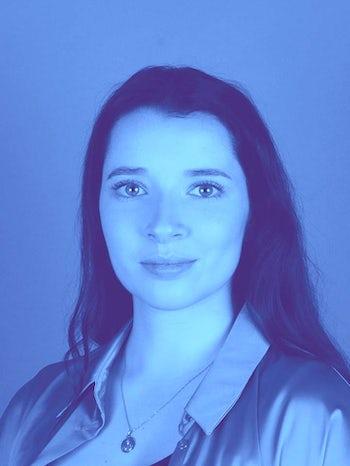 Sophie Tortolano studio 2 light blue