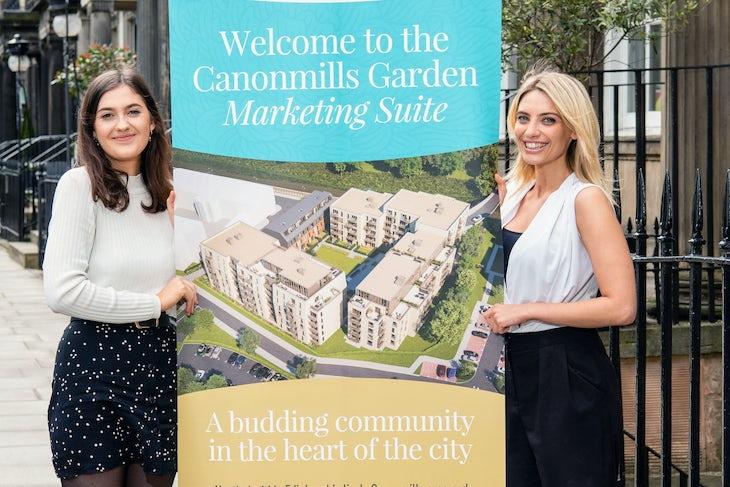 Gilson Gray, Canonmills Garden, Sale team Izzy Bastiani and Christie Turner
