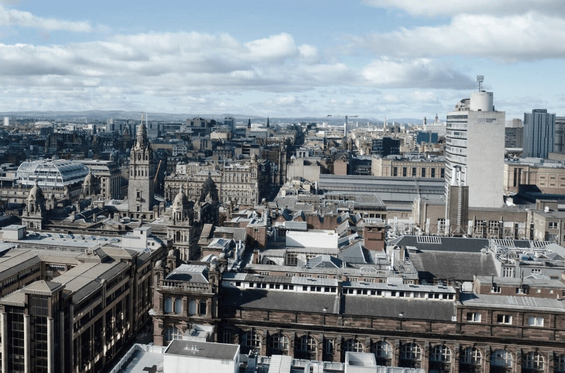 City landscape of Glasgow