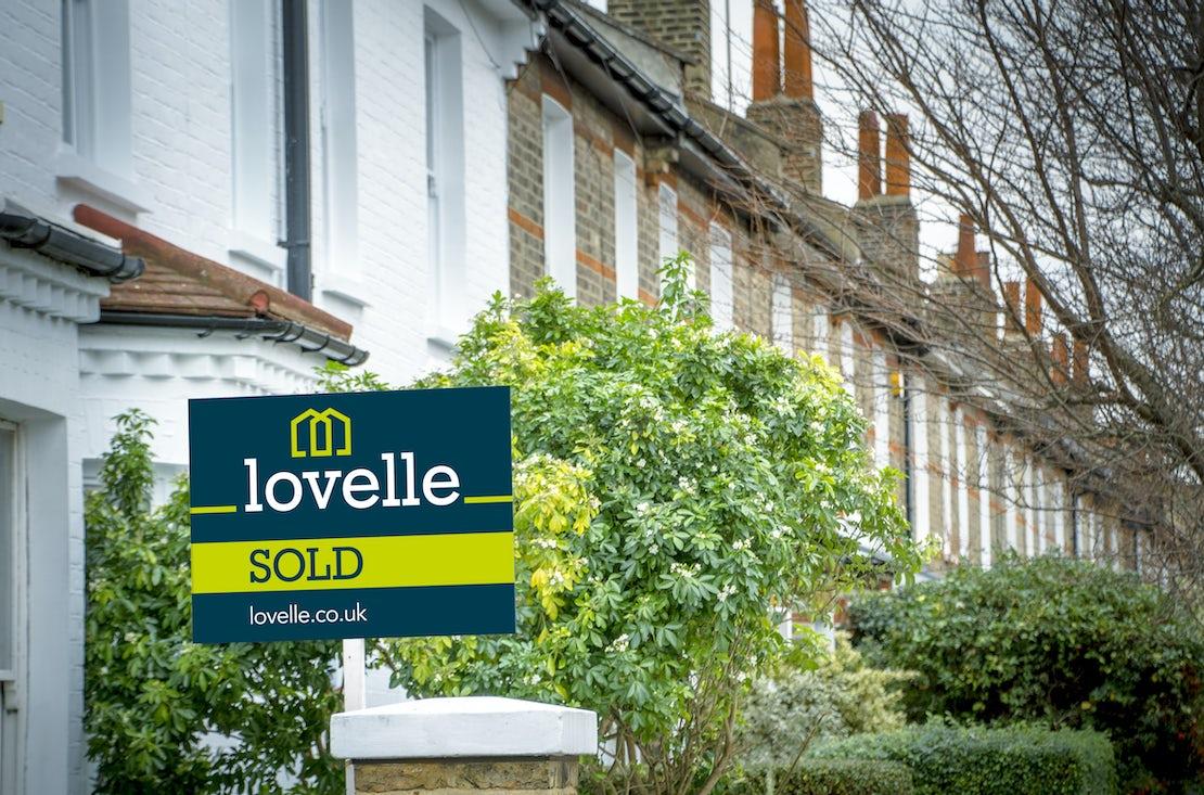 Estate Agent 'For Sale' sign board